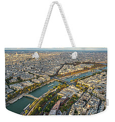 Golden Light Along The Seine Weekender Tote Bag by Mike Reid