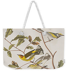 Golden Winged Warbler Or Cape May Warbler Weekender Tote Bag by John James Audubon