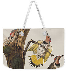 Golden-winged Woodpecker Weekender Tote Bag by John James Audubon