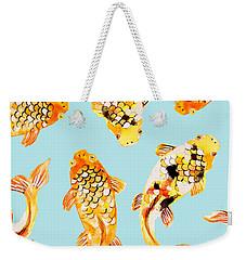 Goldfish Weekender Tote Bag by Uma Gokhale