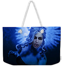 Gorgon Blue Weekender Tote Bag by Joaquin Abella
