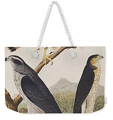 Goshawk And Stanley Hawk Weekender Tote Bag by John James Audubon