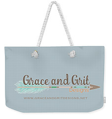 Grace And Grit Logo Weekender Tote Bag by Elizabeth Taylor