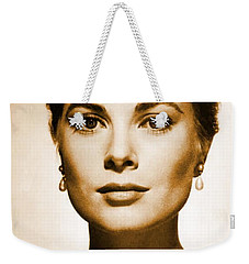 Grace Kelly Weekender Tote Bag by Opulent Creations