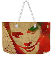 Grace Kelly Watercolor Portrait Weekender Tote Bag by Design Turnpike