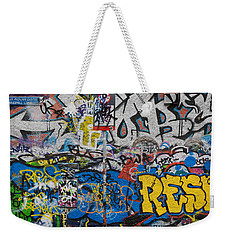 Grafitti On The U2 Wall, Windmill Lane Weekender Tote Bag by Panoramic Images