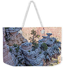 Weekender Tote Bag featuring the photograph Grand Canyon Cliff Wall, Arizona by A Gurmankin