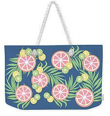 Grapefruit  Weekender Tote Bag by Lauren Amelia Hughes