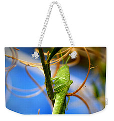 Grassy Hopper Weekender Tote Bag by Chris Brannen