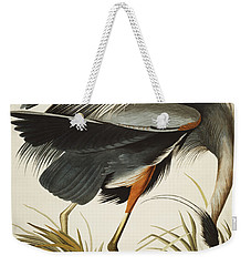 Great Blue Heron Weekender Tote Bag by John James Audubon
