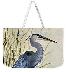 Great Blue Heron Splendor Weekender Tote Bag by James Williamson