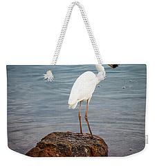 Great White Heron With Fish Weekender Tote Bag by Elena Elisseeva