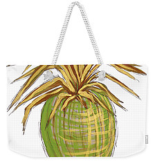 Green Gold Pineapple Painting Illustration Aroon Melane 2015 Collection By Madart Weekender Tote Bag by Megan Duncanson
