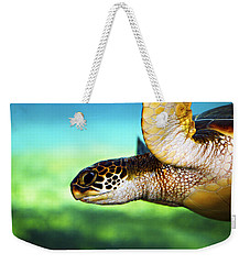 Green Sea Turtle Weekender Tote Bag by Marilyn Hunt
