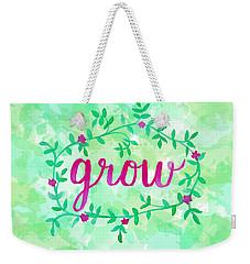 Grow Watercolor Weekender Tote Bag by Michelle Eshleman