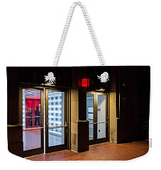 Weekender Tote Bag featuring the photograph Guarding The Door by M G Whittingham
