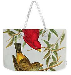 Haematospiza Sipahi Weekender Tote Bag by John Gould