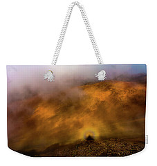 Weekender Tote Bag featuring the photograph Haleakala Halo by M G Whittingham