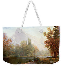 Half Dome Yosemite Weekender Tote Bag by Albert Bierstadt