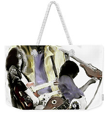 Hammer Of The Gods   Jimmy Page Weekender Tote Bag by Iconic Images Art Gallery David Pucciarelli