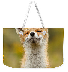 Happy Fox Weekender Tote Bag by Roeselien Raimond