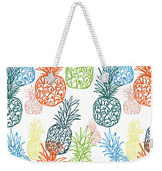 Happy Pineapple- Art By Linda Woods Weekender Tote Bag by Linda Woods