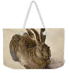 Hare Weekender Tote Bag by Albrecht Durer