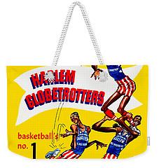 Harlem Globetrotters Vintage Program 32nd Season Weekender Tote Bag by Big 88 Artworks