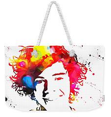 Harry Styles Paint Splatter Weekender Tote Bag by Dan Sproul