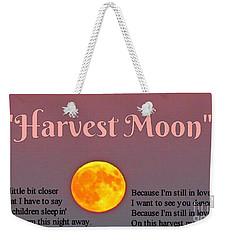 Harvest Moon Song Weekender Tote Bag by John Malone