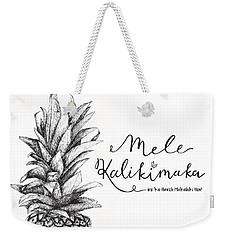 Hawaiian Christmas Weekender Tote Bag by Nancy Ingersoll