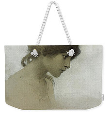 Head Of A Girl  Weekender Tote Bag by Franz Dvorak