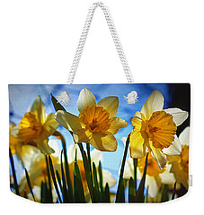Hello Spring Weekender Tote Bag by Cricket Hackmann