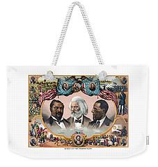 Heroes Of The Colored Race  Weekender Tote Bag by War Is Hell Store