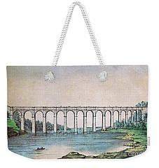 High Bridge, New York, 19th Century Weekender Tote Bag by Photo Researchers