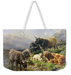 Highland Cattle Weekender Tote Bag by William Watson