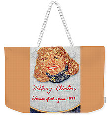 Hillary Clinton Woman Of The Year Weekender Tote Bag by Randall Weidner