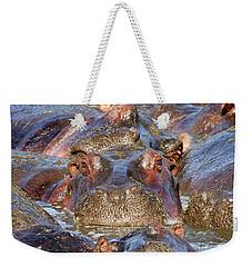 Hippopotamus Weekender Tote Bag by Richard Garvey-Williams