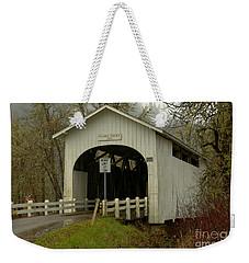 Historic Harris Covered Bridge Weekender Tote Bag by Adam Jewell