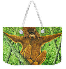 Hnag On In There Weekender Tote Bag by Pat Scott
