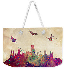 Hogwarts Castle Watercolor Art Print Weekender Tote Bag by Svetla Tancheva