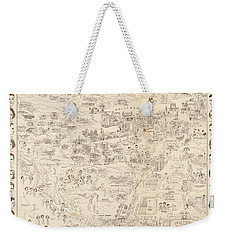 Hollywood Map To The Stars 1937 Weekender Tote Bag by Don Boggs