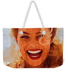 Hollywood Star Margot Robbie Weekender Tote Bag by Best Actors