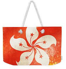 Hong Kong China Flag Weekender Tote Bag by Setsiri Silapasuwanchai