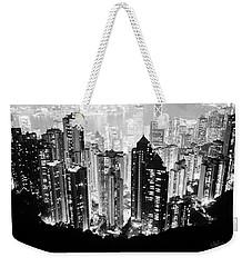 Hong Kong Nightscape Weekender Tote Bag by Joseph Westrupp