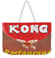 Hong Kong Vintage Chinese Food Sign Weekender Tote Bag by Edward Fielding