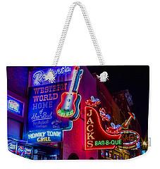 Honky Tonk Broadway Weekender Tote Bag by Stephen Stookey