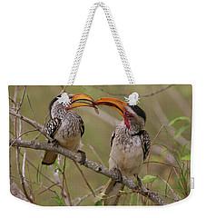 Hornbill Love Weekender Tote Bag by Bruce J Robinson