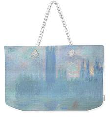 Houses Of Parliament  London Weekender Tote Bag by Claude Monet