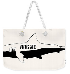 Hug Me Shark - Black  Weekender Tote Bag by Pixel  Chimp